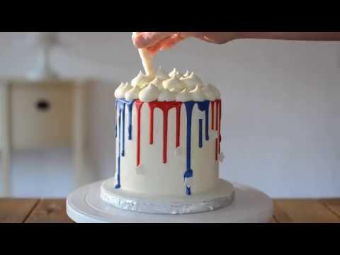 Kaked By Katie 4th Of July Drip Cake Americake Youtube