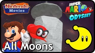 Super Mario Odyssey - Dark Side of the Moon - All Moons (in order with timestamps)