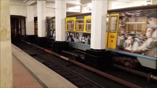 Перегонка именного поезда Кино Победы через Филёвскую линию