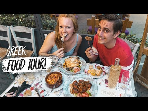 Greek Food Tour – 8 Foods You HAVE to Try in Athens, Greece! (Americans Try Greek Food)