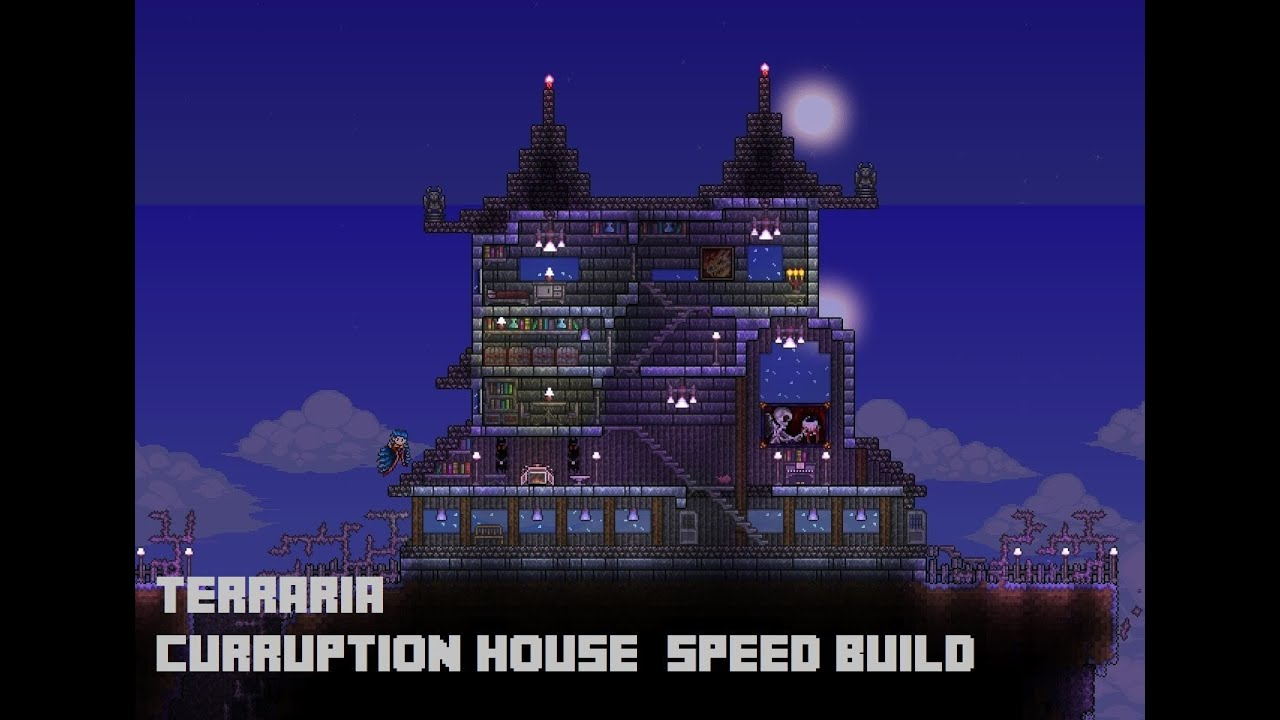 Terraria Corruption Island House Speed Build Youtube