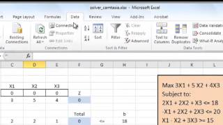 Solving Linear Programming Problems Using Microsoft Excel (Modified)