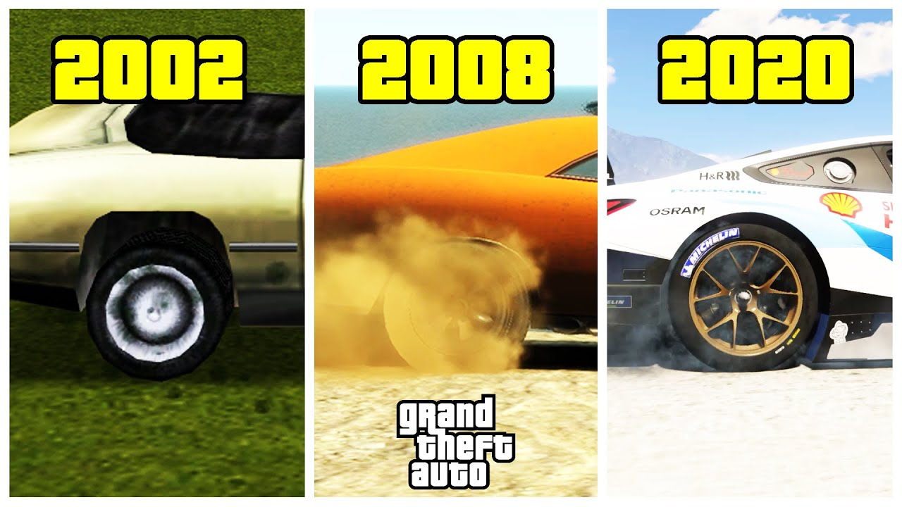 "Evolution of ""BURNOUTS"" in GTA games!"