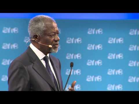 Kofi Annan - The One Young World Summit 2014