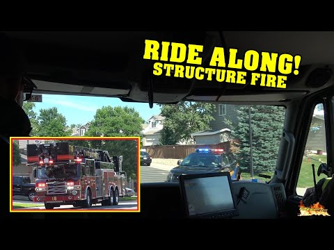 [RIDE ALONG to STRUCTURE FIRE] - Littleton & South Metro Fire responding to possible House Fire!