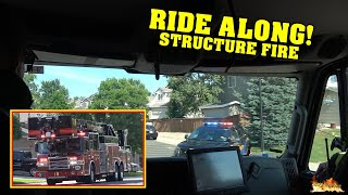 [RIDE ALONG!] STRUCTURE FIRE  Littleton & South Metro Fire responding to Residential Fire!