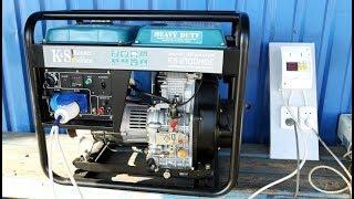 Генератор Konner&Sohnen KS 6100 HDE тестируем под нагрузкой