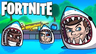 THE LOOT LAKE SHARK TROLLS in Fortnite: Battle Royale (Fortnite Funny Moments & Fails)