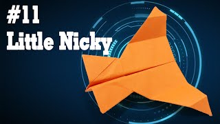 Easy origami - How to make a easy paper airplane glider that FLY FAR #11| Little Nicky
