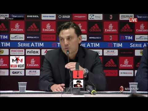 Montella conferenza post Milan Roma 0 2 01 10 2017   sottotitolato