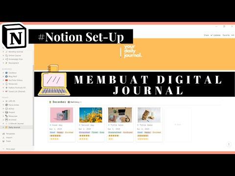 Setup Notion pt.4  - digital journal gallery + template