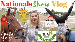 Nationals Show Vlog - Riding for the Disabled Association | This Esme Video