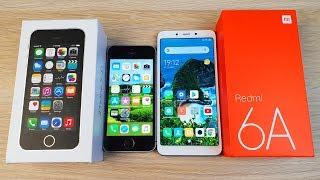 iPhone 5S vs Xiaomi Redmi 6A - ЧТО ЛУЧШЕ? ПОЛНОЕ СРАВНЕНИЕ!