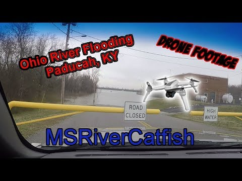 Ohio River Flooding - Paducah, KY Drone Footage - MSRiverCatfish