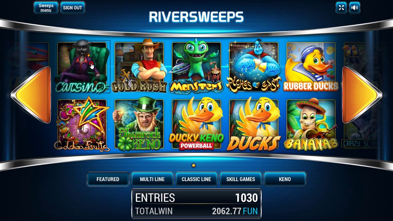 Pre-reveal feature RiverSweeps Sweepstakes