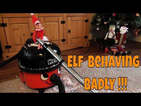 🎅 Elf Behaving Badly & uses Henry the Hoover for Mischievous Night ~ Vacuum Cleaner Video for Kids