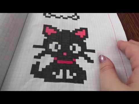 Pixel art juodas kačiukas