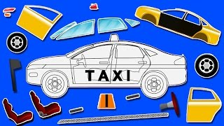 Taxi | formation and uses | puzzle games for kids | learn colors