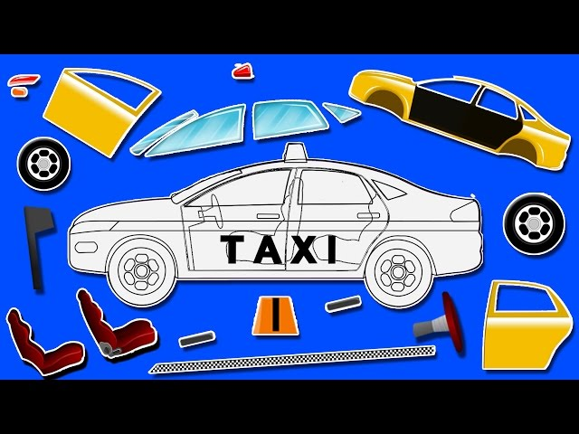 Taxi   formation and uses   puzzle games for kids   learn colors