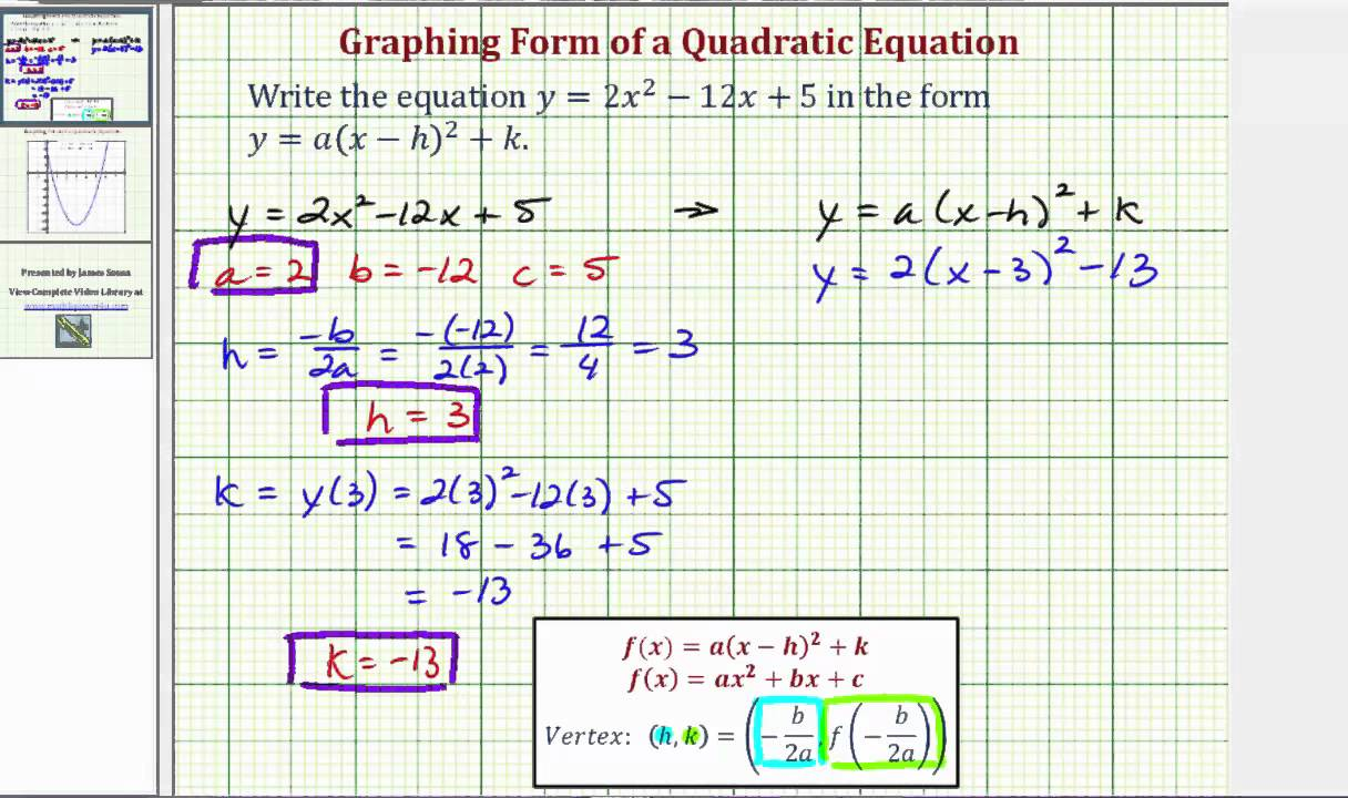 Ex write a quadratic function in standard form using formulas for ex write a quadratic function in standard form using formulas for the vertex falaconquin