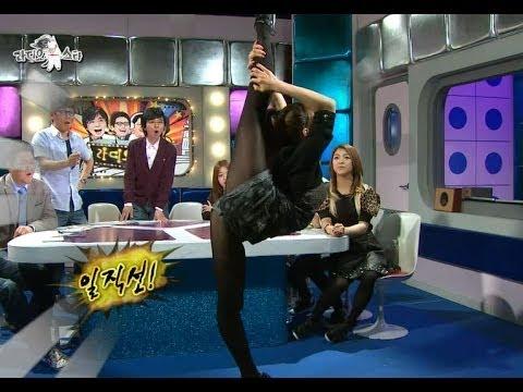 【TVPP】Victoria(f(x)) - Supple Body, 빅토리아(에프엑스) - 180도로 다리 찢는 유연함 @ The Radio Star