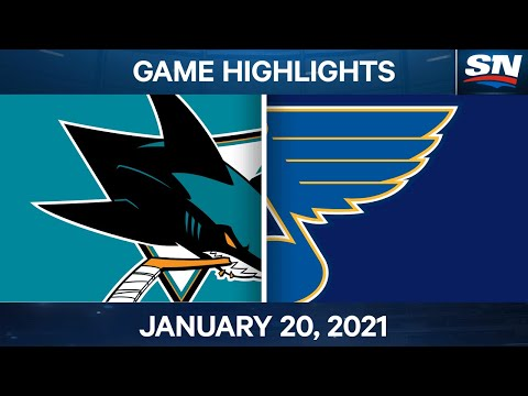 NHL Game Highlights   Sharks vs. Blues - Jan. 20, 2021