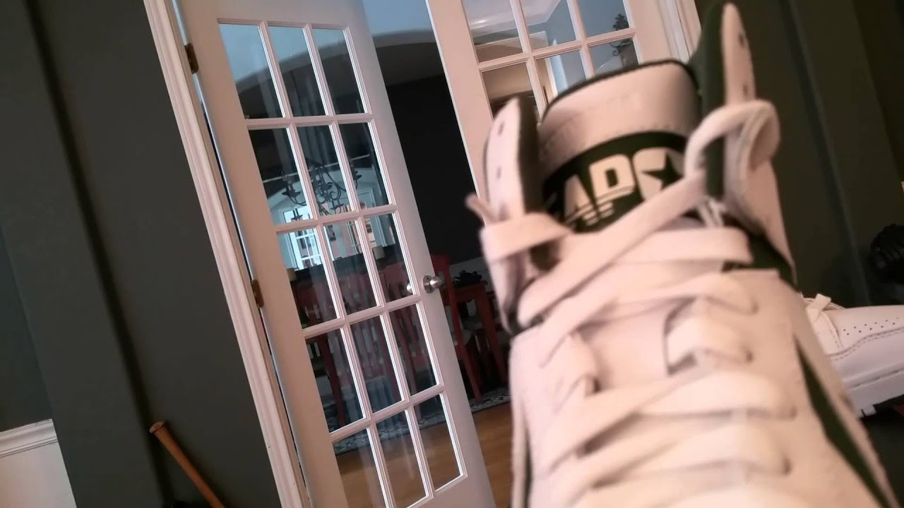 3962f37a8690 Converse Weapon 2014 s Green white - YouTube