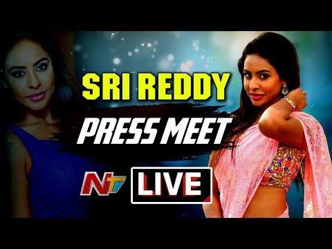 Sri Reddy Press Meet at Somajiguda Press Club LIVE || Sri Reddy Leaks || Casting Couch || NTV Live