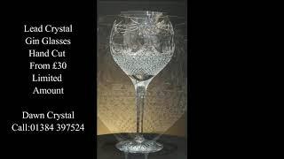Crystal gin glasses