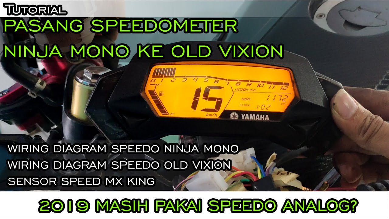 Cara Pasang Speedometer Ninja Mono Ke Old Vixion  Wiring