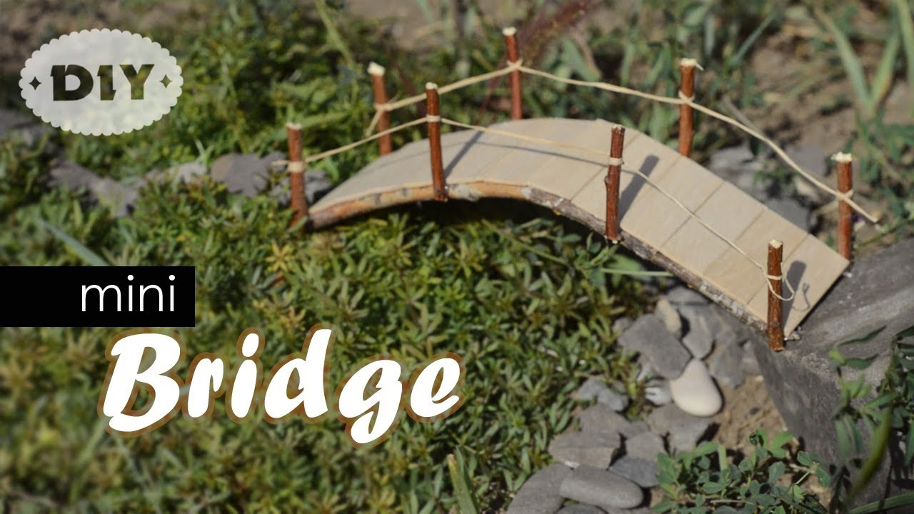 Diy Mini Bridge How To Make Mini Popsicle Sticks Bridge