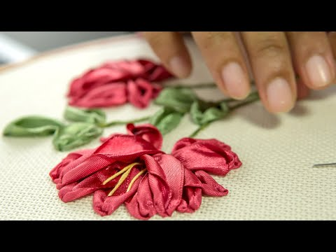 Ribbon Flowers Embroidery Ideas: Learn Stitching For Beginners