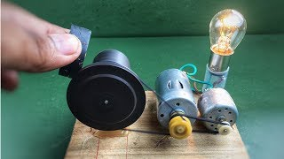 Flywheel free energy generator using dc motor with magnets - Electric science experiment projects