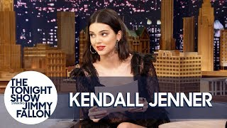 kendall jenner reads a letter she wrote as a teen predicting her modeling fame