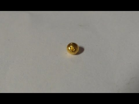 RAM processing for GOLD recovery PART 4a - gold bead from fingers