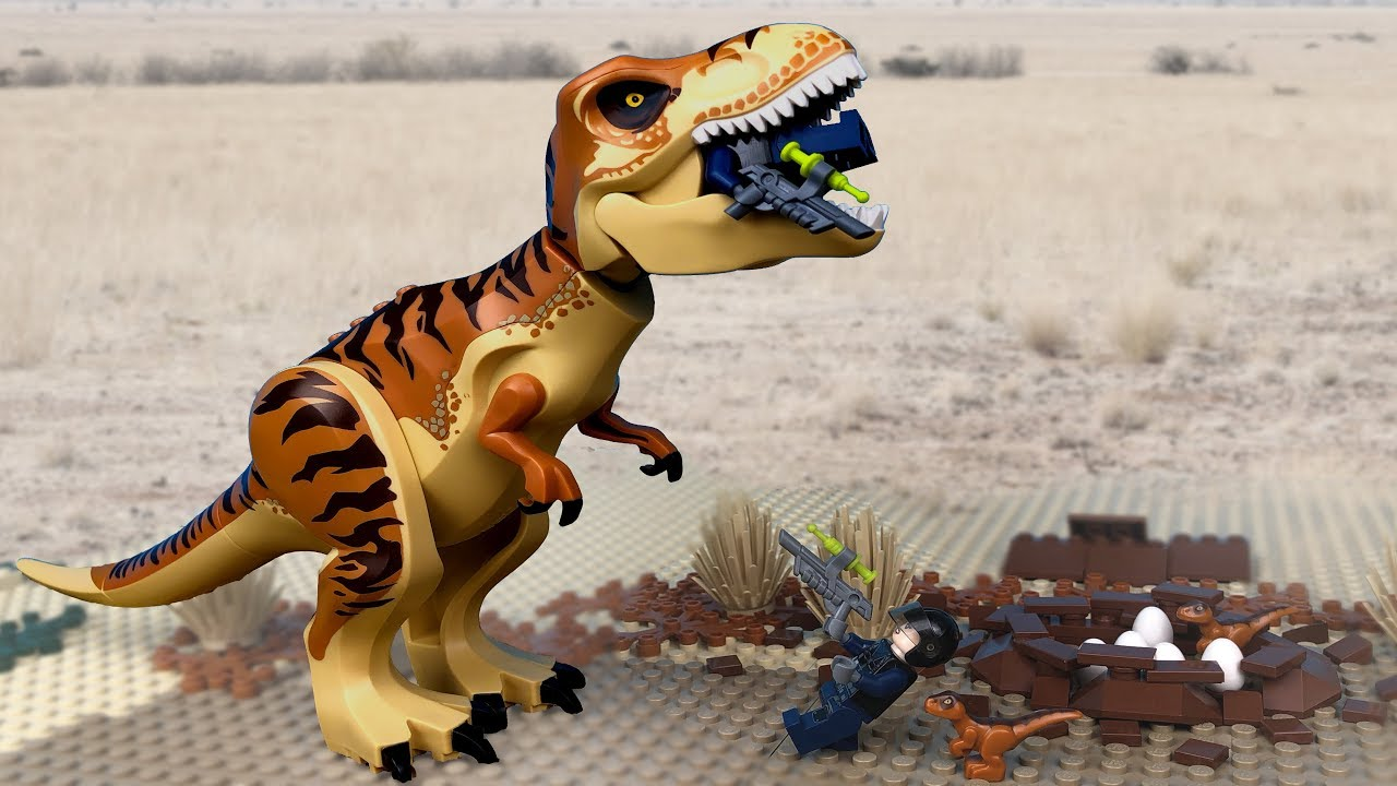 LEGO Jurassic World 🔴 Indoraptor vs Indominus Rex - 5 🦖Dinosaur Attack