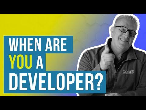 When Do You Become A Developer?