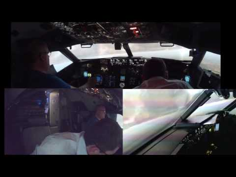 Flying a 737 NGX (simulator) from Gatwick to Dublin but had an emergency situation to deal with