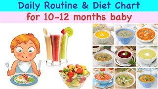 Food chart/ diet plan for 10 -12 months baby 🙏🏻for more related videos and queries please comment below or mail me at littletellytv@gmail.com.🙏🏻 🙏🏻 thanks a ...