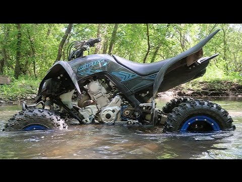 Sport Quads ride through the river, we fix the ATV bridge!