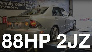 88hp 2JZ IS300 On The Dyno
