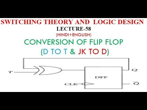 25c95b6e7 CONVERSION OF FLIP FLOP -(D TO T   JK TO D) LECT-58 - YouTube