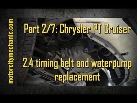 part 2 7 chrysler pt cruiser timing belt and waterpump. Black Bedroom Furniture Sets. Home Design Ideas