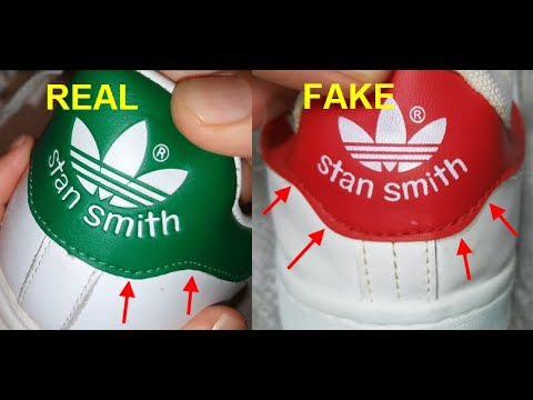 Adidas Stan Smith real vs Fake. How to spot counterfeit Adidas Stan Smith white sneakers