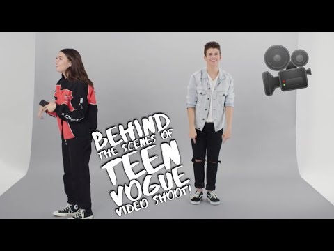 BEHIND THE SCENES OF TEEN VOGUE  SHOOT