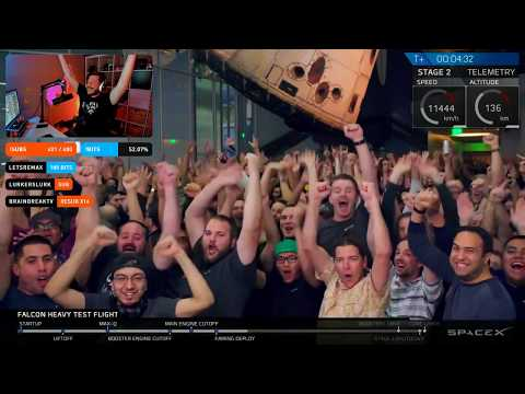 Watching the SpaceX Falcon Heavy Launch w/ Chat