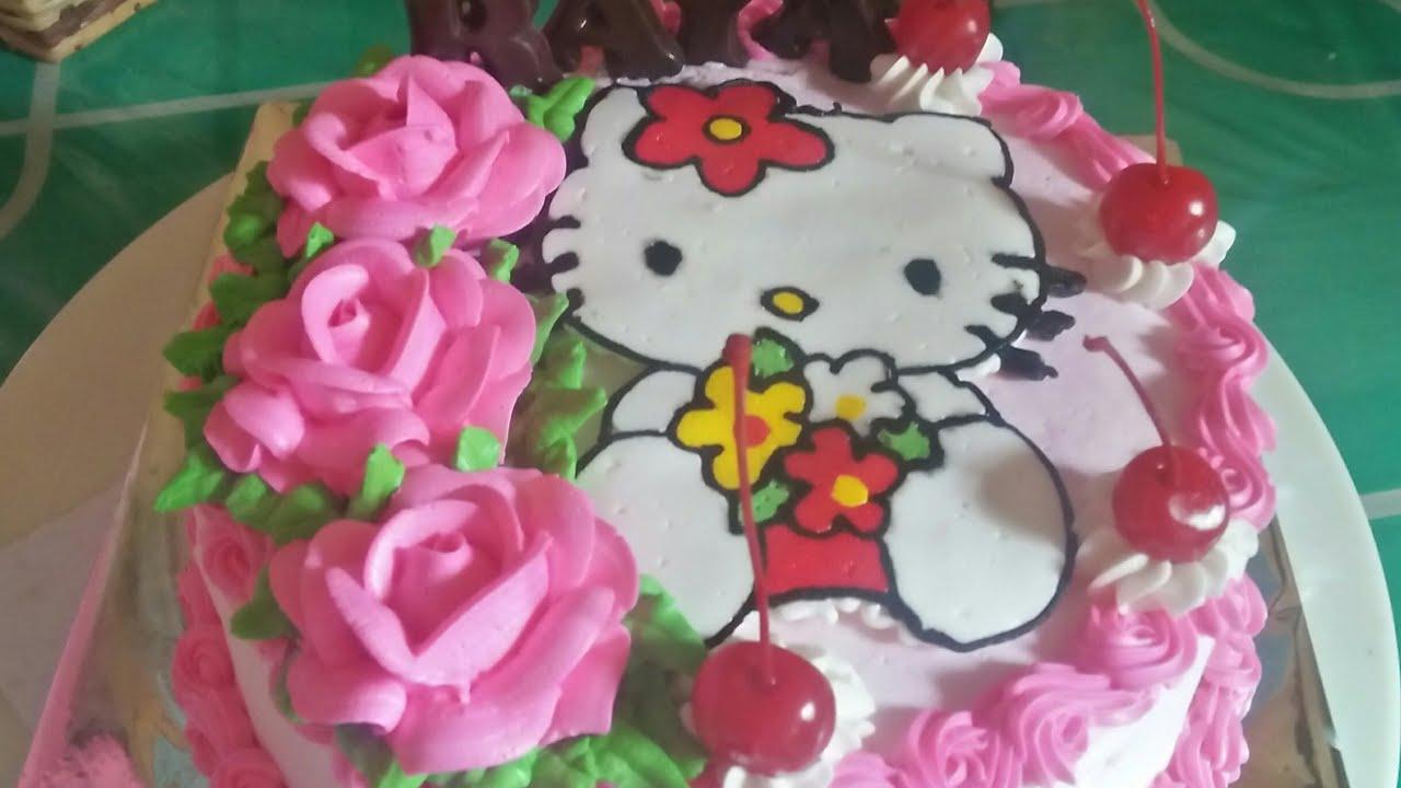 Cara Menghias Kue Ulang Tahun Hello Kitty Untuk Anak