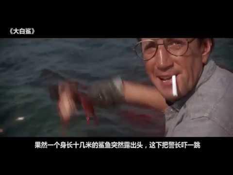 【电影解说】《大白鲨》十几米的巨型鲨鱼在海边袭击人类,美女半夜游泳上来只剩下骨头
