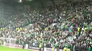 Hearts fans silenced by Celtic fans. thumbnail