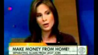"""Cbs' early show: """"make money from home, how to avoid work home scams"""""""